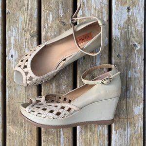 Miz Mooz 'Lavern' Peep Toe Wedge Sandals, Size 8.5